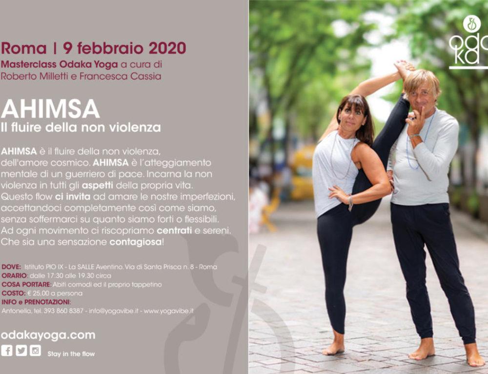 Rome | Ahimsa: the flow of non-violence | February 9, 2020